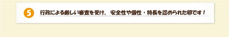 兵庫県認証食品 冨士ファームの美味しい赤たまご 特徴